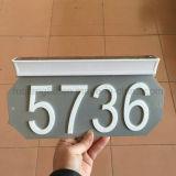 Lumière solaire extérieure pour numéro de maison
