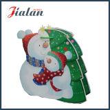 Personnaliser le sac de papier particulier de cadeau d'achats de Noël et de bonhomme de neige de père de dessin animé