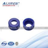 Heißes Sale White PTFE/Red Silicone Septa, 9mm Blue Short Schraube-Thread Polypropylene Cap, 6mm Centre Hole