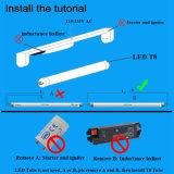tubo de 180lm/W LED T8 con el Ce RoHS