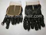 Funmiのニースカールが付いている人間の毛髪の閉鎖