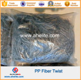 PP Twist Fiber Synhtetic Macro Fibras Twisted Bundle Form