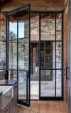Безопасности Bifold современные двери стальные двери железа на французском языке для наружной
