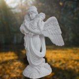 판매를 위한 대리석 상 조각품의 작은 아기를 붙드는 아름다운 천사