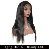 Pleines perruques de cheveux humains de lacet pour le noir normal 12-24inch de cheveu brésilien droit soyeux de Non-Remy de femmes de couleur