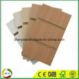 MDF slot/Simples/folheado de madeira/PVC/HPL/UV/Melamina MDF laminado