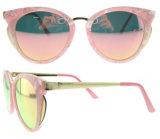 Les lunettes de soleil de plot réflectorisé 2016 femmes vendent des lunettes de soleil en gros avec l'objectif polarisé