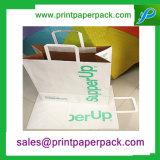 Белый мешок Kraft бумажный с подгонянным логосом печатание