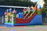 Bâche en pvc Sport gonflable Kungfu Panda Obstacle Castle pour maternelle