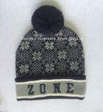 100%Acrylicは暖めるジャカード編む帽子及びスカーフ(JYB361)を