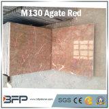 中国の普及した瑪瑙の磨かれた壁または床の敷物のための赤い装飾10mmの厚い大理石のタイル