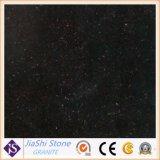 Populares de grado superior de la galaxia de losa de granito negro Kitchentop y en el suelo