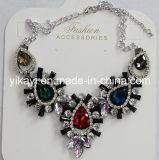 Fashion Jewelry Metal Alloy女性ガラス水晶吊り下げ式のネックレス(JE0212)