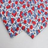 A tela de algodão colorida e impressa da flor