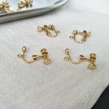 Отсутствие серег дешевого золота Pin уха Pierce Clip-on для украшения девушок