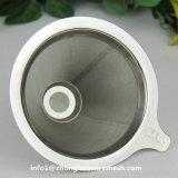 종이를 사용하지 않는 커피 Infuser 의 스테인리스 재사용할 수 있는 드립 콘 커피 필터, 커피 양조자에 따르십시오