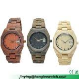 OEM het Belangrijke Horloge van de Kalender van het Horloge van de Productie Houten