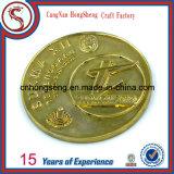 Deporte moneda de metal de cobre de plata personalizado antiguo del oro