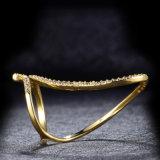 Ring van de Juwelen van CZ van het Koper van de Gift van de partij de Regelbare Open Goud Geplateerde