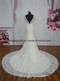 Vestido de casamento nupcial longo da sereia