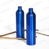 까만 플라스틱 로션 펌프 (PPC-ACB-019)를 가진 파란 알루미늄 로션 병