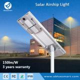 Garantía de 3 años con protección IP65 en una sola calle luz LED Solar