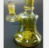 6.3 بوصة أصفر زجاجيّة [سموك بيب] مربح يعيد [وتر بيب]