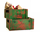 De madera rústica Crates-Home Decor-Bookworm Gift-Librarian Gifts-Book amante Don-2 Madera personalizada Crates-Customized-regalo para los docentes