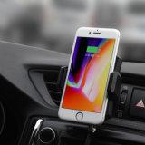 Fast Qi Wireless Cargador de teléfono móvil soporte para iPhone cargador de coche inalámbrico de tipo 8 con soporte