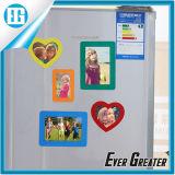 Magnete su ordinazione all'ingrosso del frigorifero del blocco per grafici della foto del PVC di colore giallo