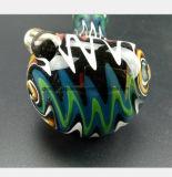 4.92 인치 손잡이 관을%s 다채로운 유리제 수관