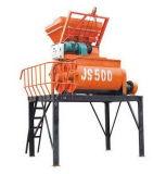 Misturador concreto revolvendo vertical elevado do eixo dobro do braço da capacidade Js500