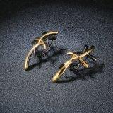 最新の金のイヤリングは金の十字Crissの女性のイヤリングのドバイの宝石類を設計する