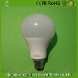 B Base2218W lâmpada LED com corpo de alumínio e de Plástico