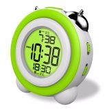 バックライトが付いているCe/RoHSデジタルの目覚し時計の金属の双生児の倍鐘