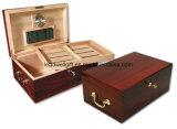 Hölzerner Zigarre-Kasten-Luftfeuchtigkeitsregler mit Griffen 120 Zigarren