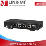 Lm Sp19 50m 4 Port 1X4 HDMI에 UTP Over Cat5 Extender Splitter Support 3D 1080P