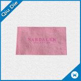 Baixo Tag tecido etiqueta dobrado Tag tecido de matéria têxtil de pano da roupa de MOQ tipo