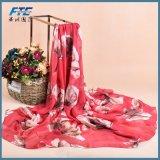 Form-Chiffon- Silk Schal der Silk Druck-Blumen-Schal-Frauen der Frauen