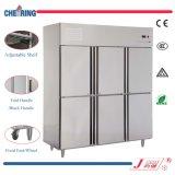 Marcação ce Cozinha Certificakte aço inoxidável Comercial Equipamento frigorífico arca congeladora Vertical
