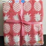 極度の柔らかいパイナップルによって印刷される赤ん坊の大人毛布