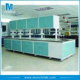 Chemie-Laborstahllaborinsel-Prüftisch mit hängendem Schrank