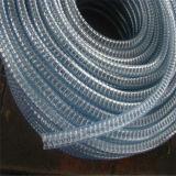 PVC transparentes/claires du fil en acier renforcé le flexible d'aspiration (Food Grade)