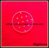 Transparente personalizar folha Drilling da placa de vidro de quartzo do laser com furos