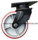 Noyau de fer PU Capacité de charge 1.4ton Super Heavy Duty Roulettes industrielles