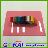 hoja coloreada 2mm-30m m del acrílico de la decoración interior