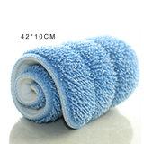 Zwei Größen-blaue Farbe Microfiber flache Mopp-Auflage