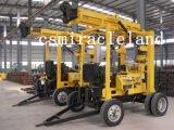 トレーラーによって取付けられる地質工学機械、井戸の掘削装置(300m-600m)