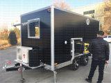 Carro móvel do Vending do cão quente que empurra o reboque do carro do alimento