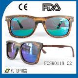 Солнечные очки таможни UV400 поляризовыванные Brown деревянные для оптовой продажи